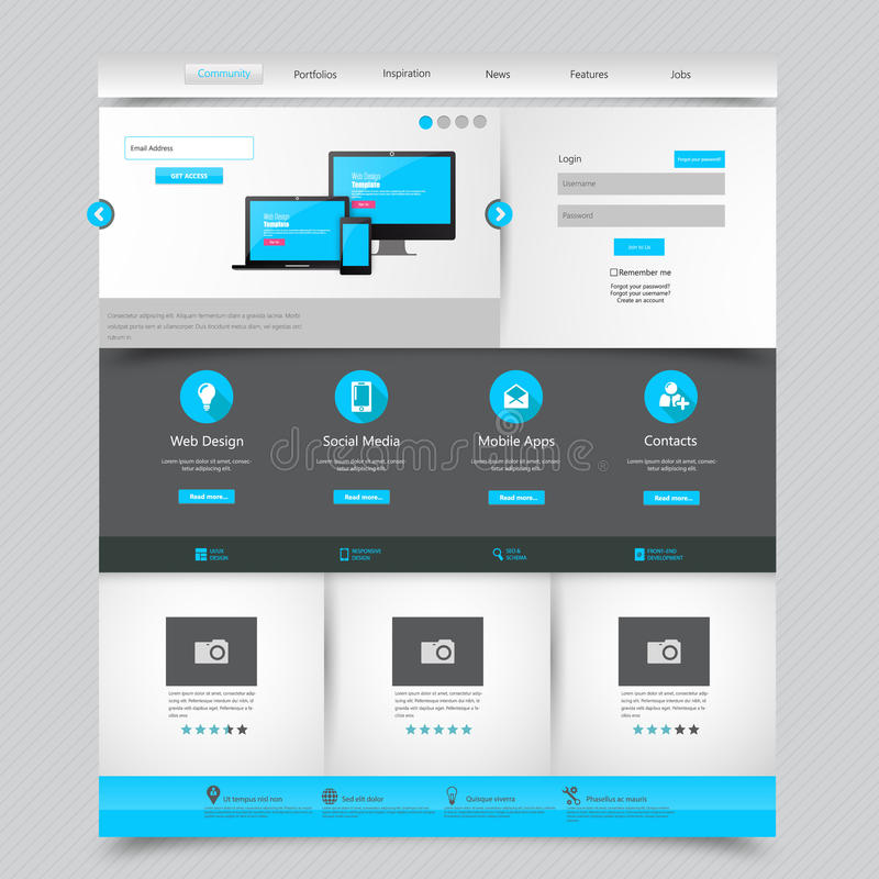 Business website template home page design clean and simple download business website template home page design clean and simple vector illustration stock flashek Images