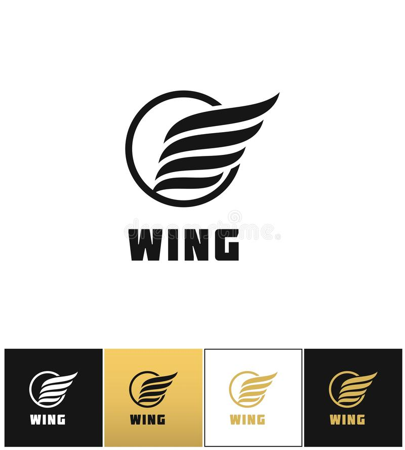Business wing logo vector icon royalty free illustration