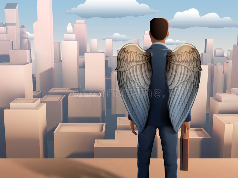 Business wings stock illustration