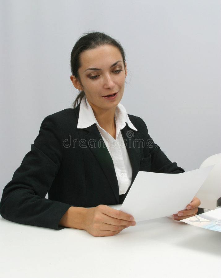 Download Business woman stock photo. Image of print, hand, paper - 1377082