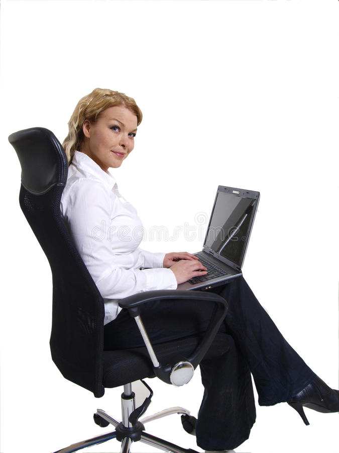 Download Business woman stock photo. Image of siting, laptop, adult - 14505496