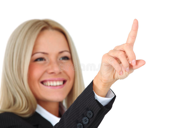 Business woman. Portrait isolated close up royalty free stock photos