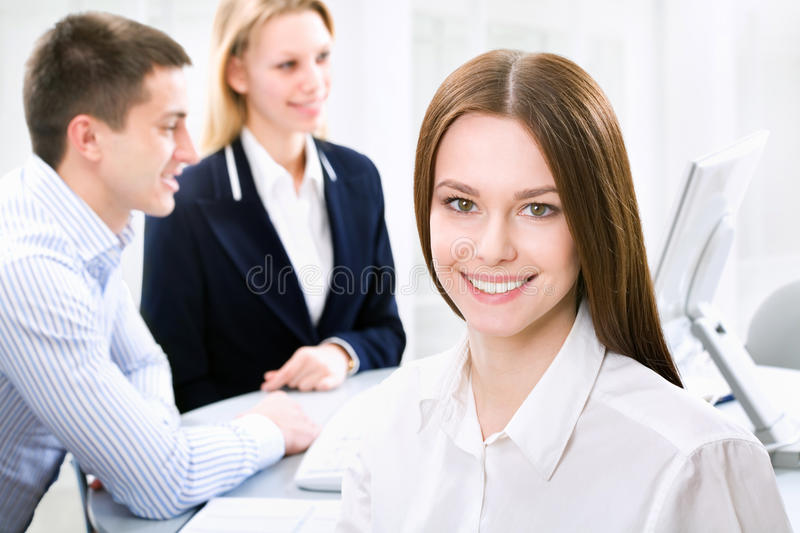 Business woman. In an office environment stock images