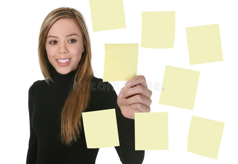 Download Business Woman stock photo. Image of list, face, blank - 2320522
