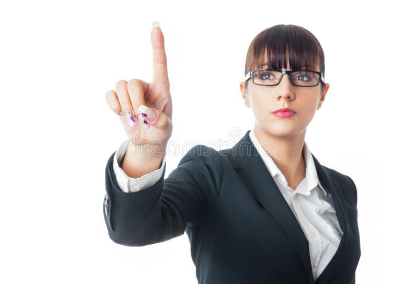 Download Business woman stock image. Image of young, white, showing - 28750495