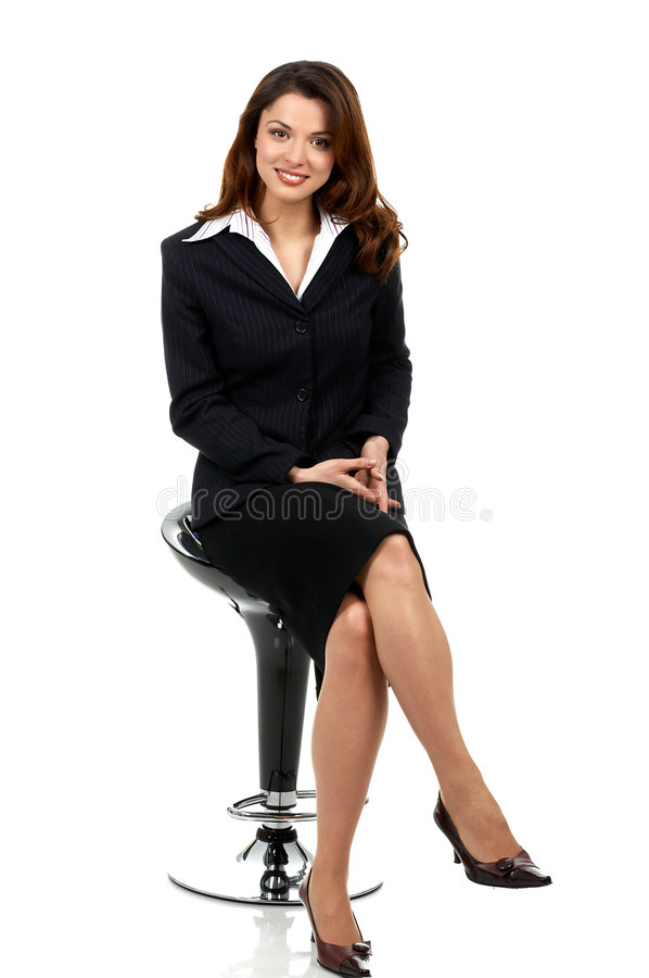 Business woman. Happy successful business woman. Isolated over white background stock images