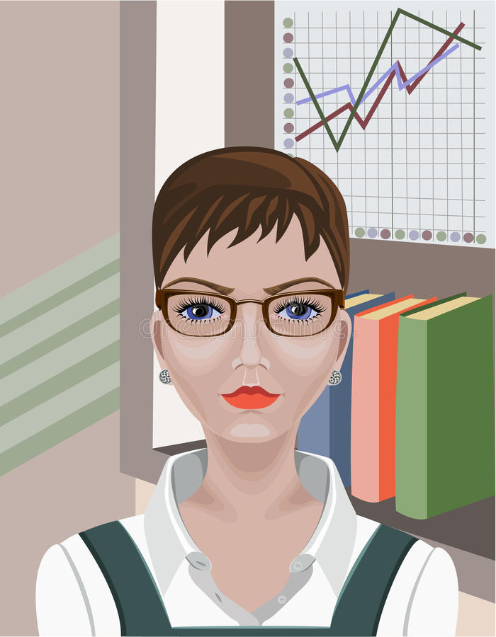 2 business woman royaltyfri illustrationer