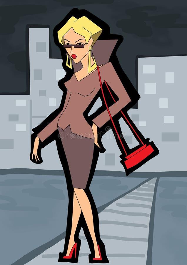 2 business woman vektor illustrationer