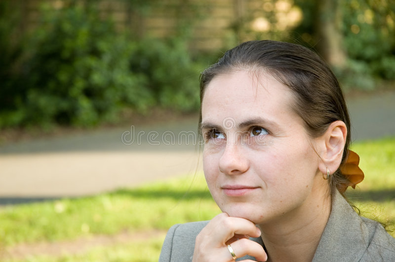 Download Business woman stock image. Image of bench, relax, hair - 456657
