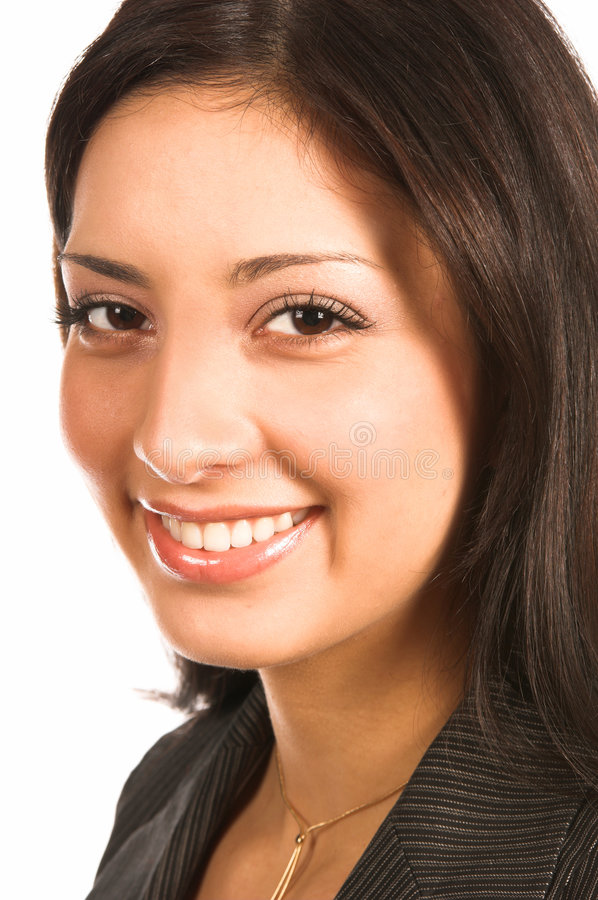Business Woman. Close up of a beautiful latina business woman stock images