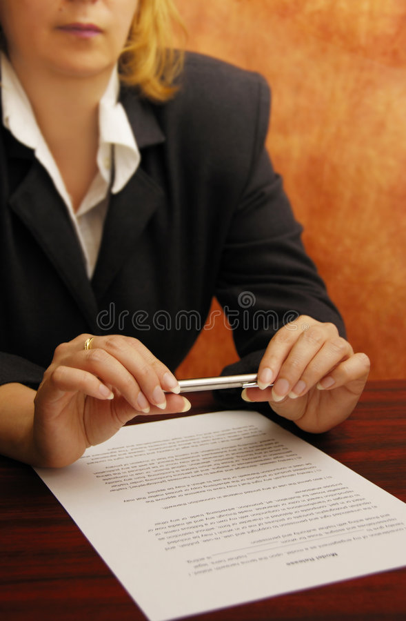 Download Business woman stock photo. Image of businesswoman, document - 4692026