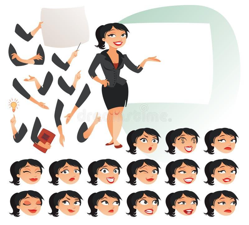 2 business woman stock illustrationer