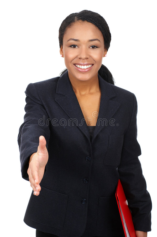Business woman. Successful business woman. Isolated over white background royalty free stock photography