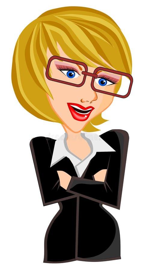 2 business woman 向量例证