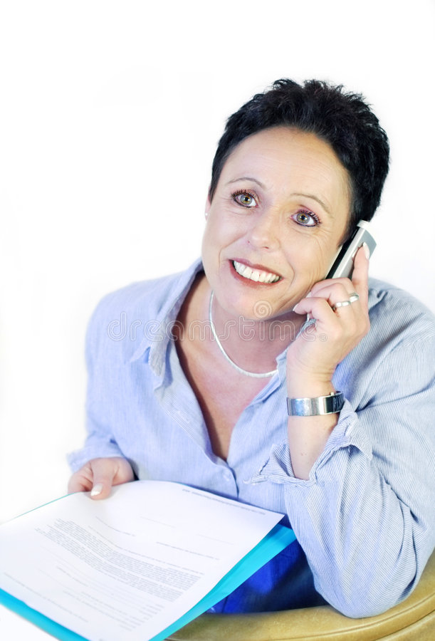 Download Business woman stock photo. Image of phone, teeth, mature - 5232190
