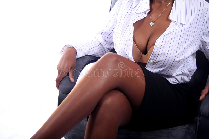 Business Woman. African American Business Woman royalty free stock image