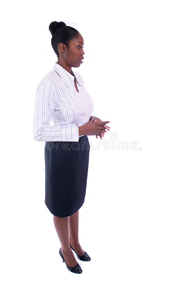 Business Woman. African American Business Woman royalty free stock photos