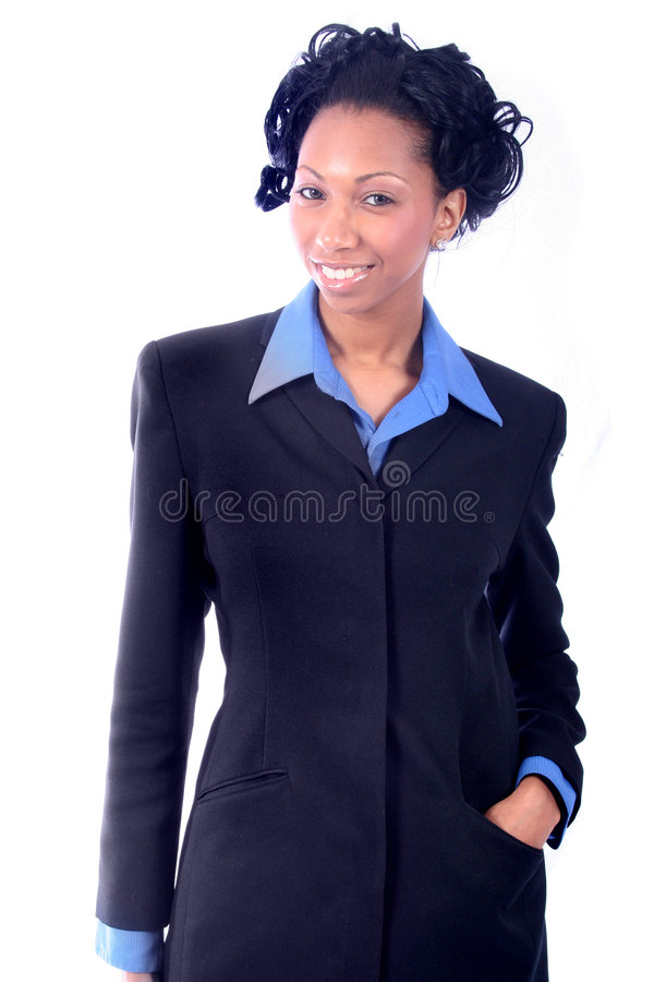 Business Woman. Cute, Pretty African American Business Woman stock photos