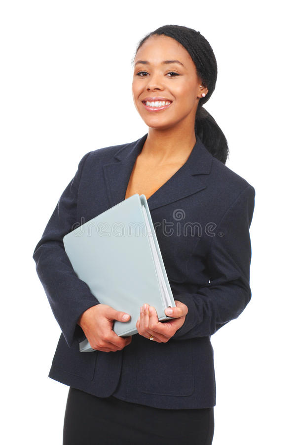 Business woman. Successful business woman. Isolated over white background stock image