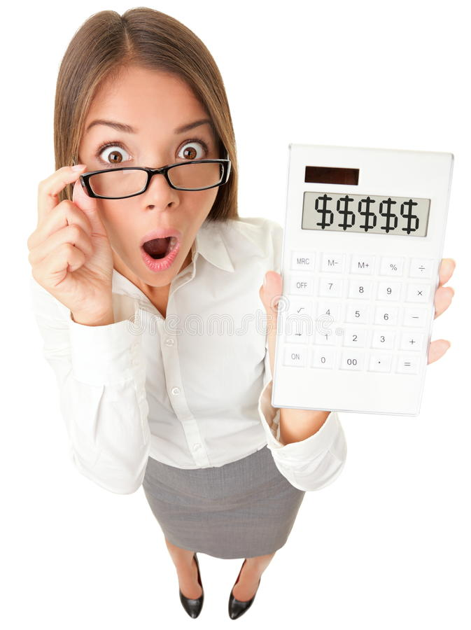 Free Business Woman Accountant Shocked Royalty Free Stock Photography - 23749667