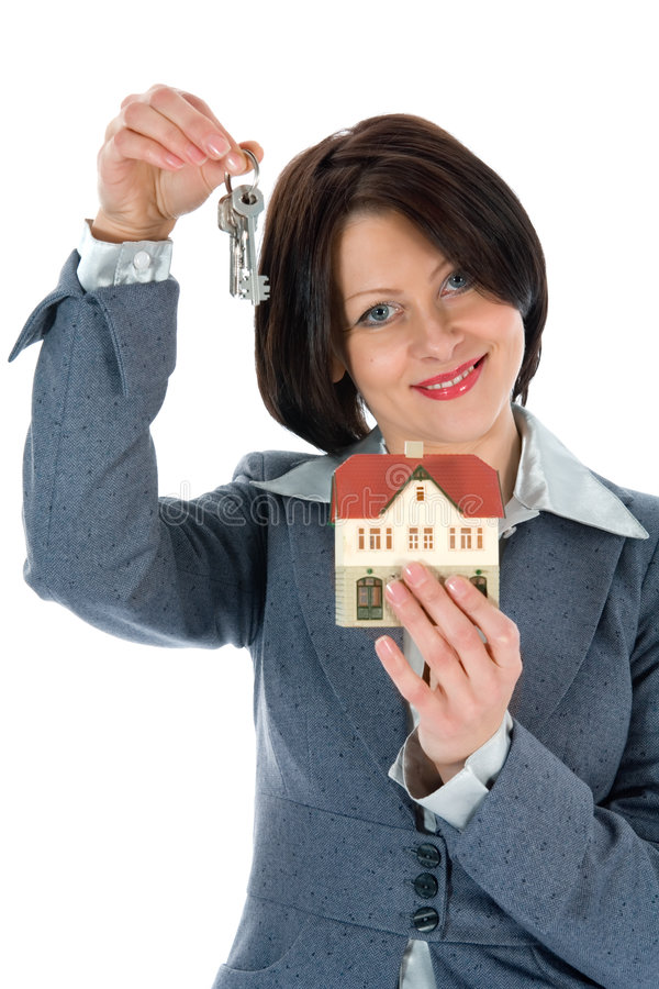 Download Business Woman Advertises Real Estate Stock Image - Image: 4588177
