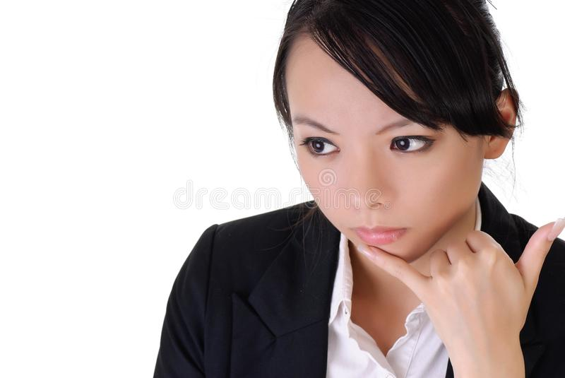 Business Woman With Alone Expression Stock Image