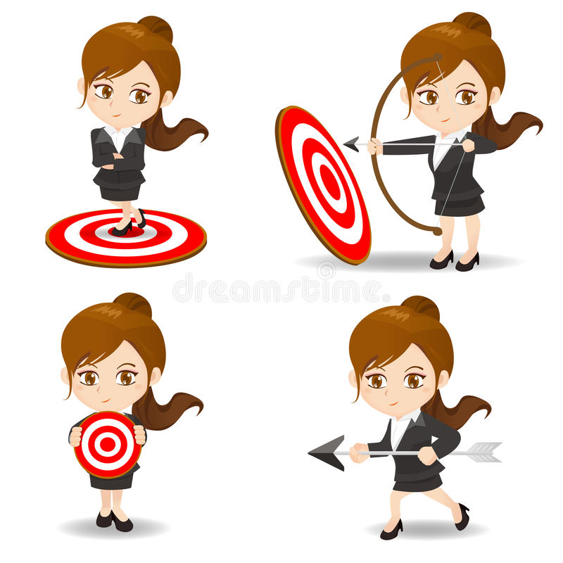 Free Business Woman Archery Target Stock Images - 58713214