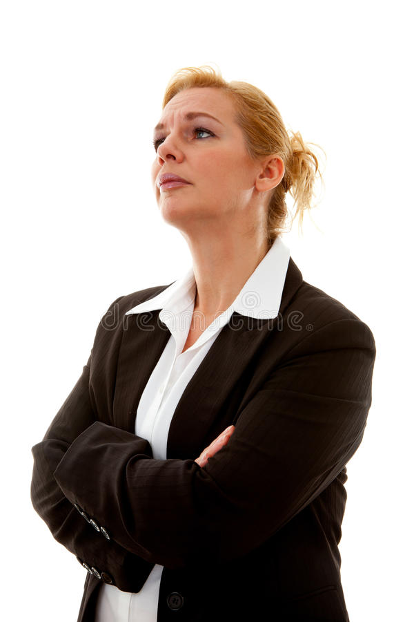 Download Business Woman With Arms Crossed Stock Photo - Image: 21743616