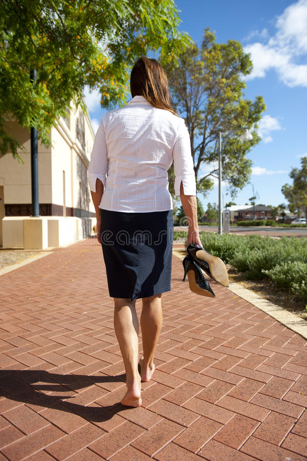 Business Woman Bare Feet royalty free stock photo