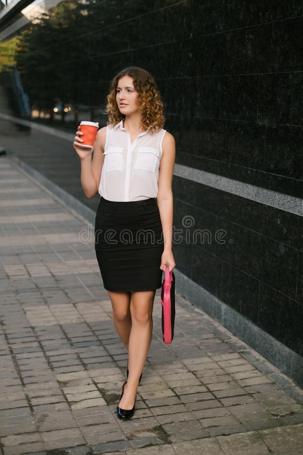 Business woman big city life concept royalty free stock image