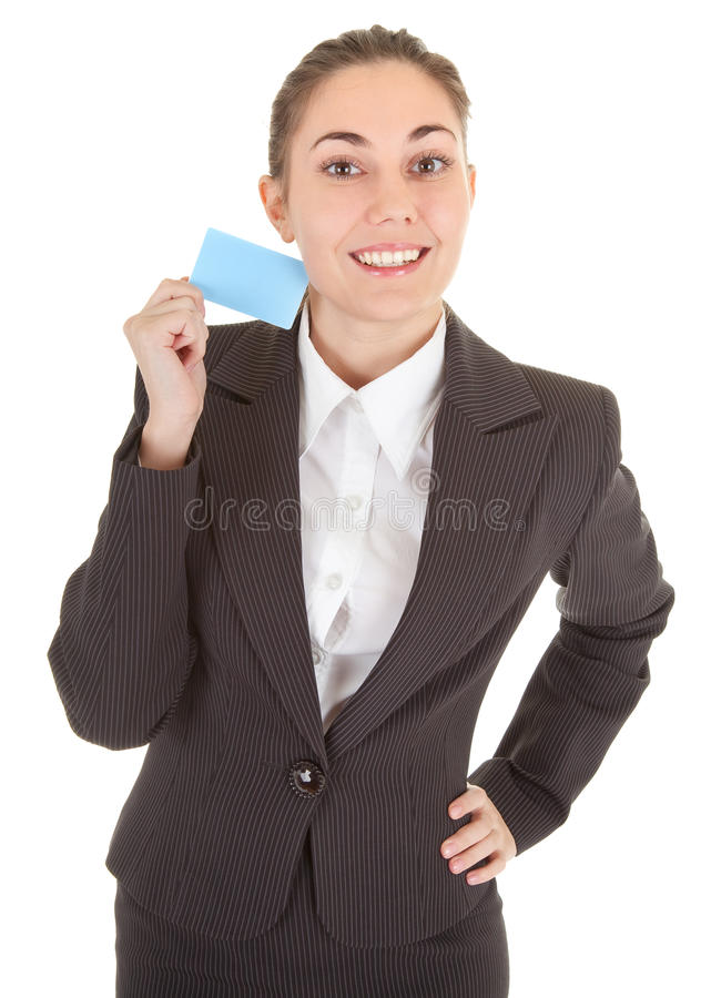 Download Business Woman With Blank Badge Stock Photo - Image: 13131744