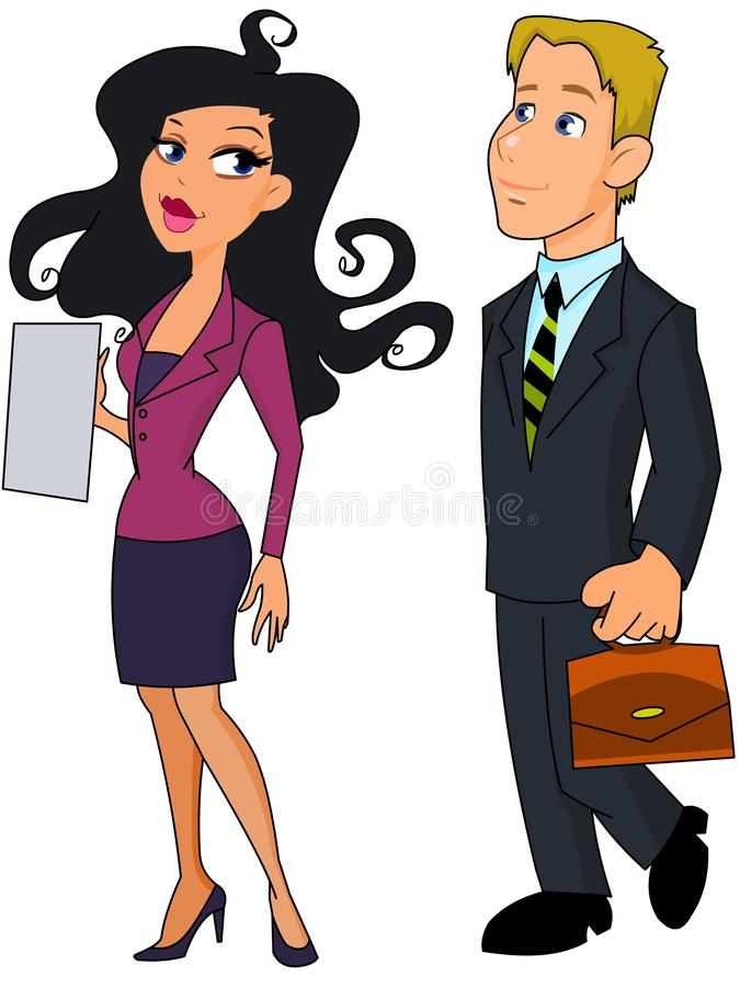Business woman and business man vector illustration
