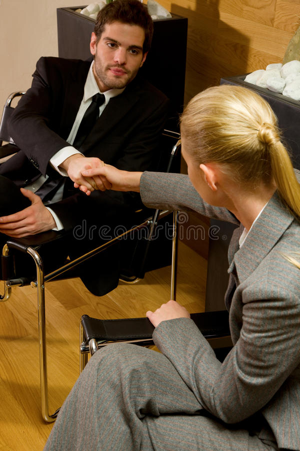 Business woman and businnes man royalty free stock images