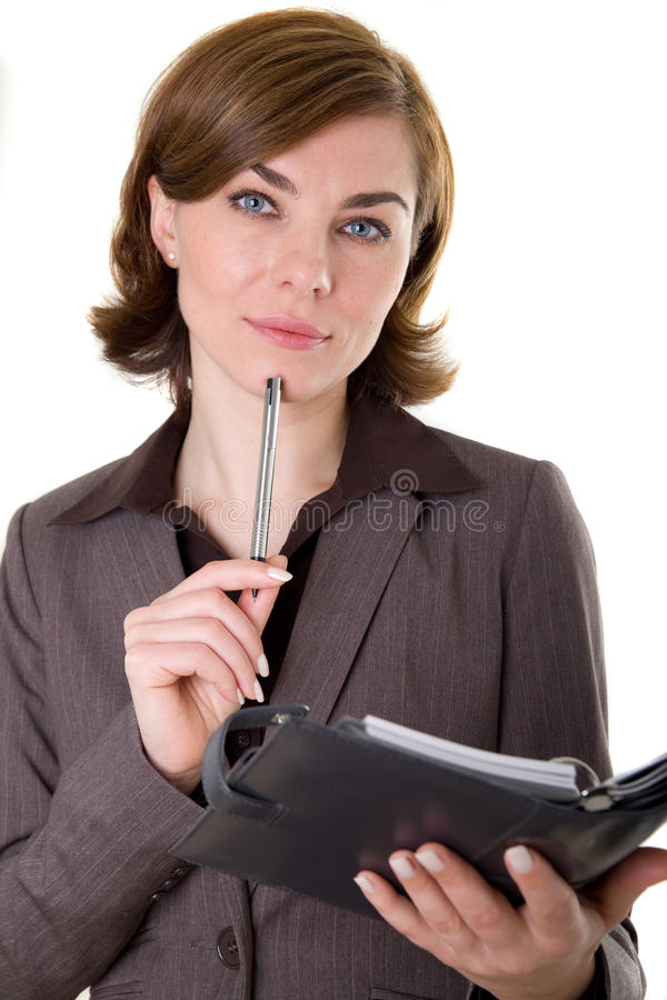 Business woman with calendar stock images