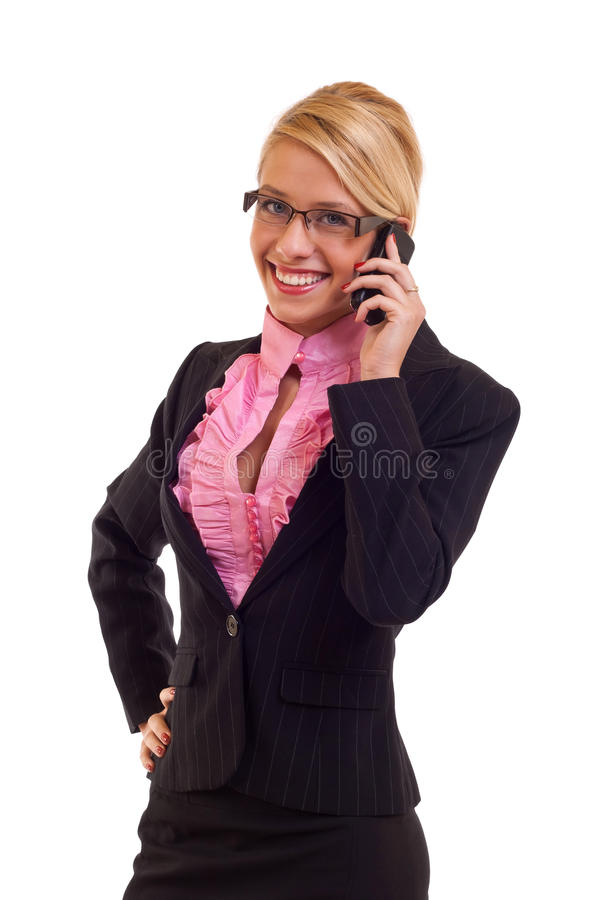Business woman calling royalty free stock image