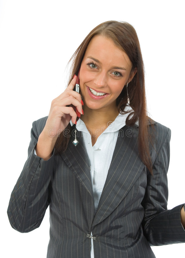 Business woman calling stock photography