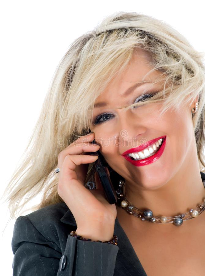 Download Business woman  calling stock photo. Image of smiling - 4680848