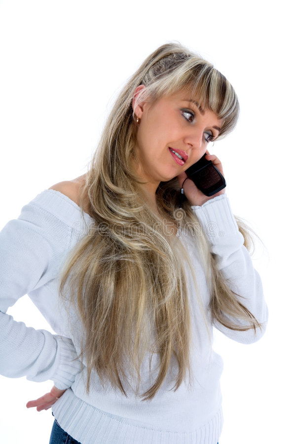 Business woman calling stock image