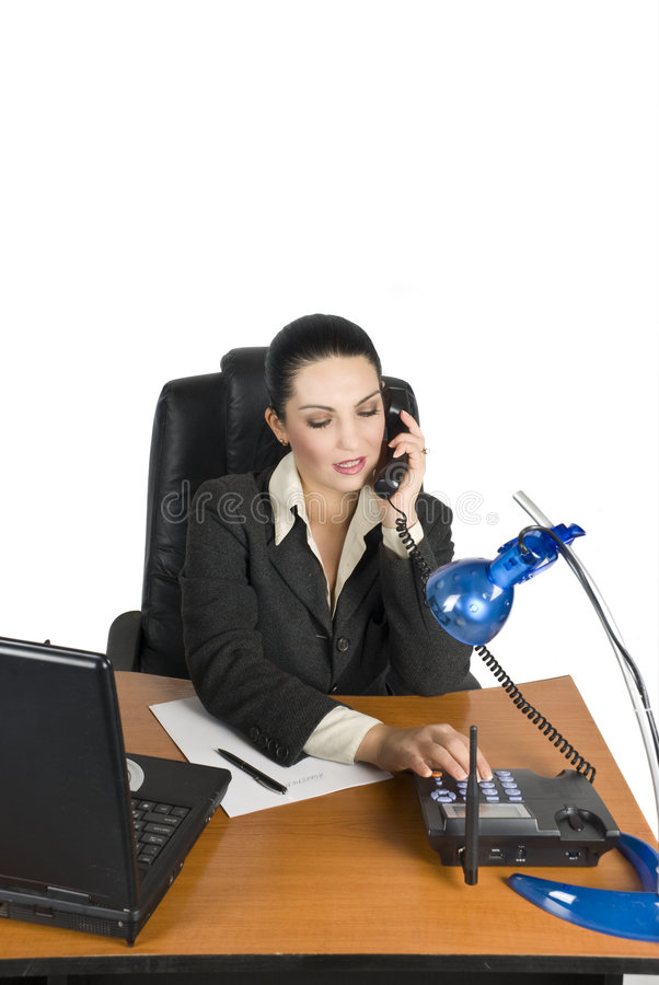 Download Business woman calling stock photo. Image of black, electrical - 6967154