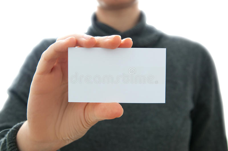 Business woman and card stock photo