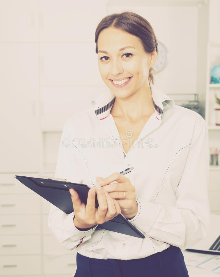 Download Business woman cardboard stock image. Image of note, lifestyle - 83702351