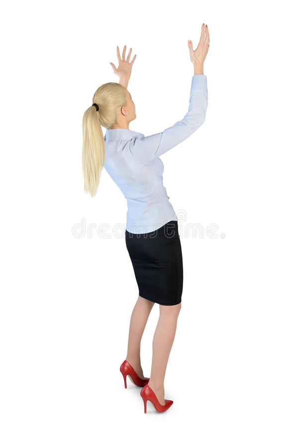 Free Business Woman Carry Something Royalty Free Stock Photos - 55936518