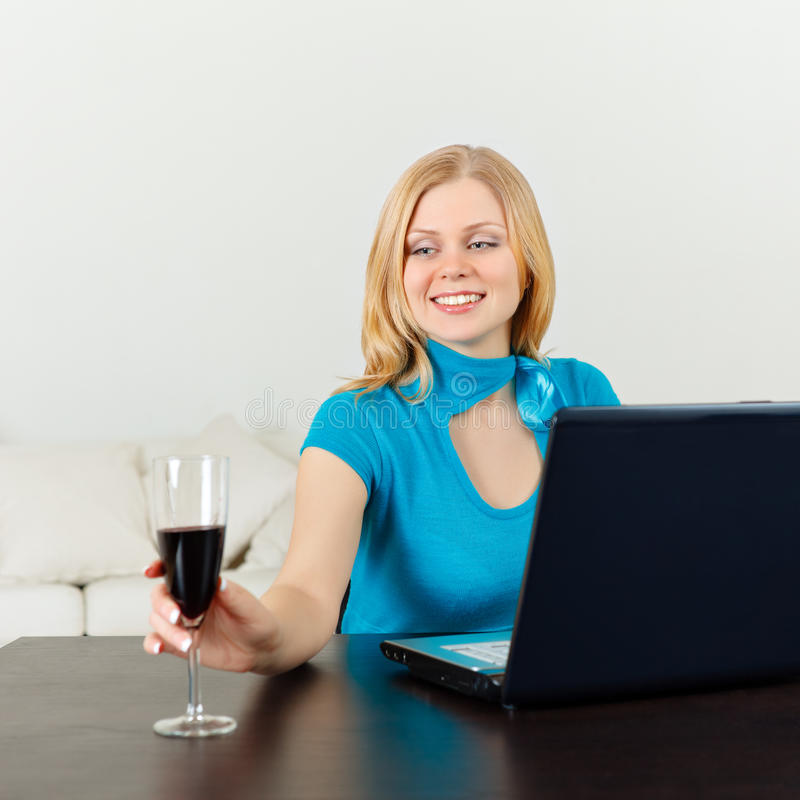 Business Woman Celebrating Her Success royalty free stock photos