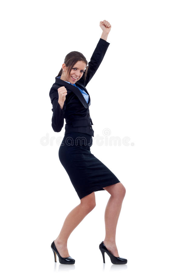 Download Business Woman Celebrating Success Stock Photo - Image of flying, elegant: 17967232