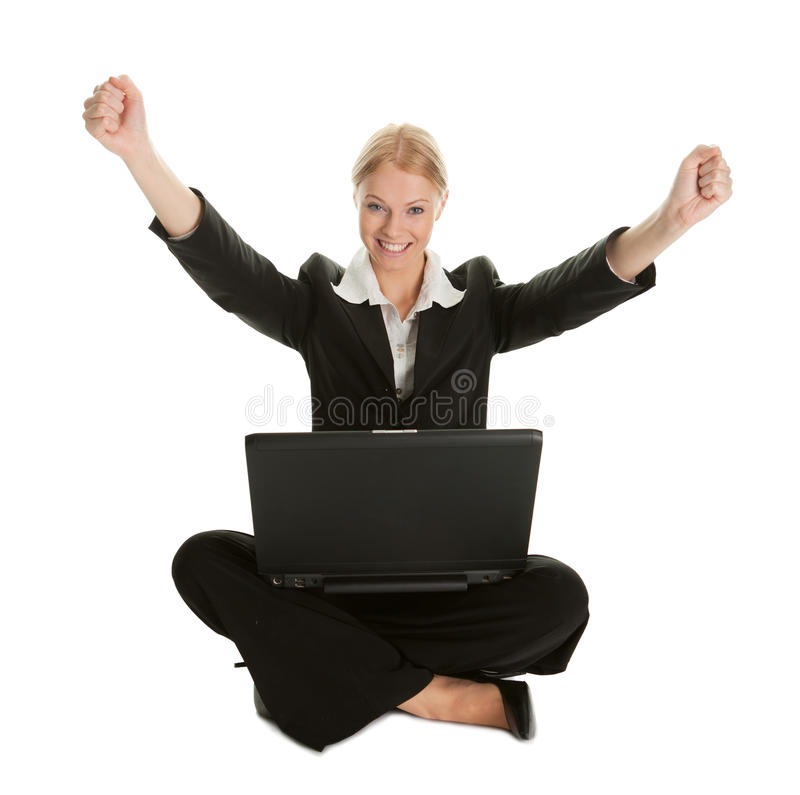 Download Business Woman Celebrating Success Stock Image - Image: 18206643