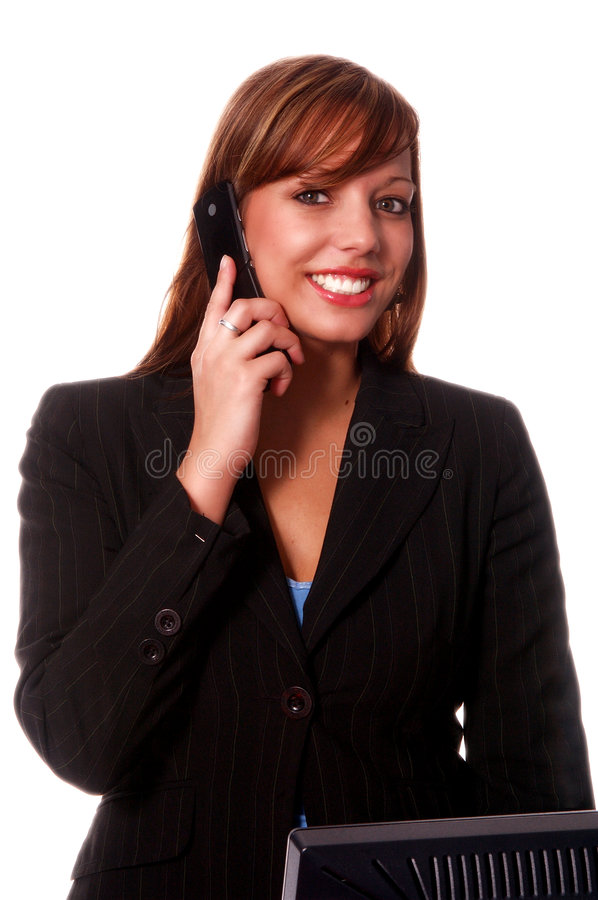 Business Woman Cell Phone stock photography