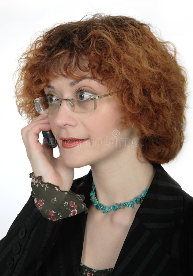 Business Woman with a Cellphone royalty free stock image