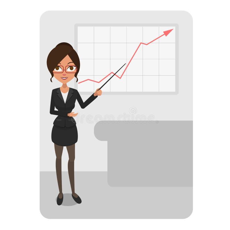 Business woman chart royalty free stock photo