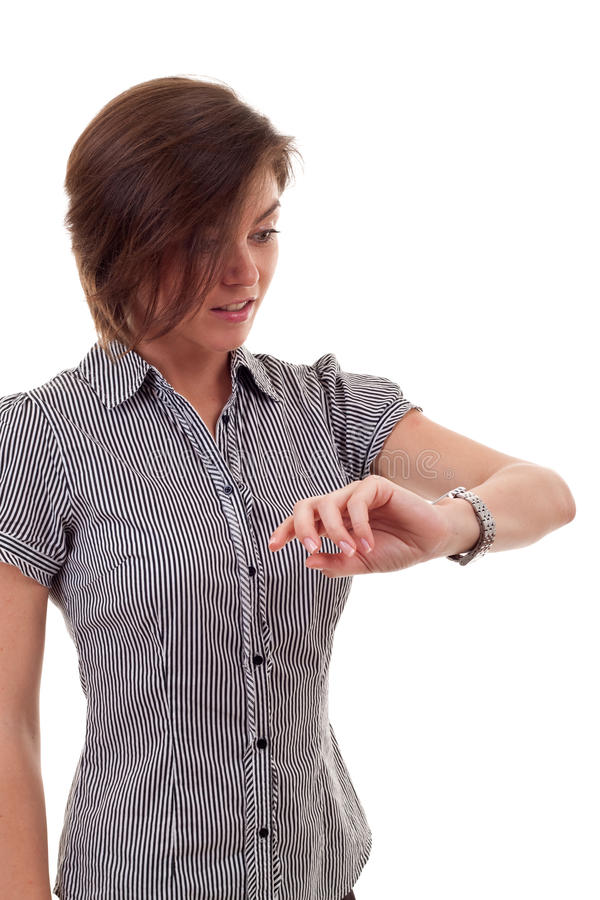 Download Business Woman Checking Time Stock Image - Image: 16433177