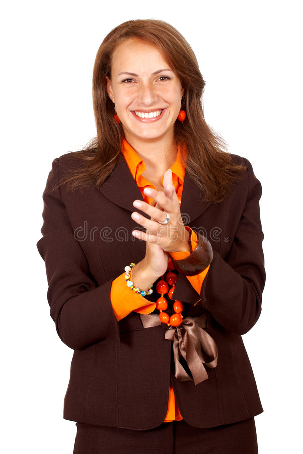 Download Business woman clapping stock image. Image of applause - 4764495